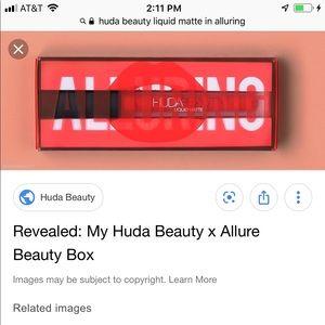 NWT Allure + Huda Beauty Liquid Matte Lipstick
